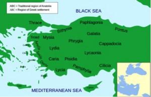 Anatolien-kort