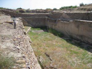 Et af de 9 vandreservoir i Dholavira