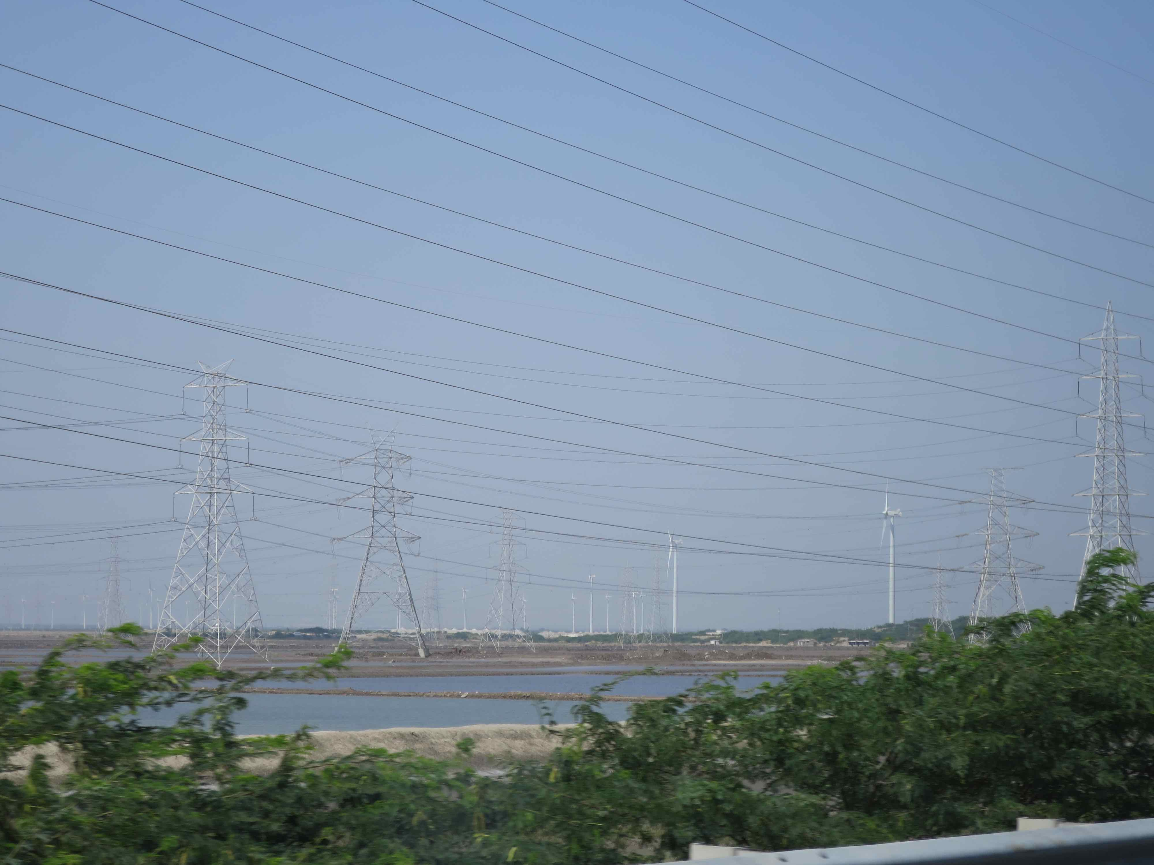 Kystnær vindmøllepark ved Kutch